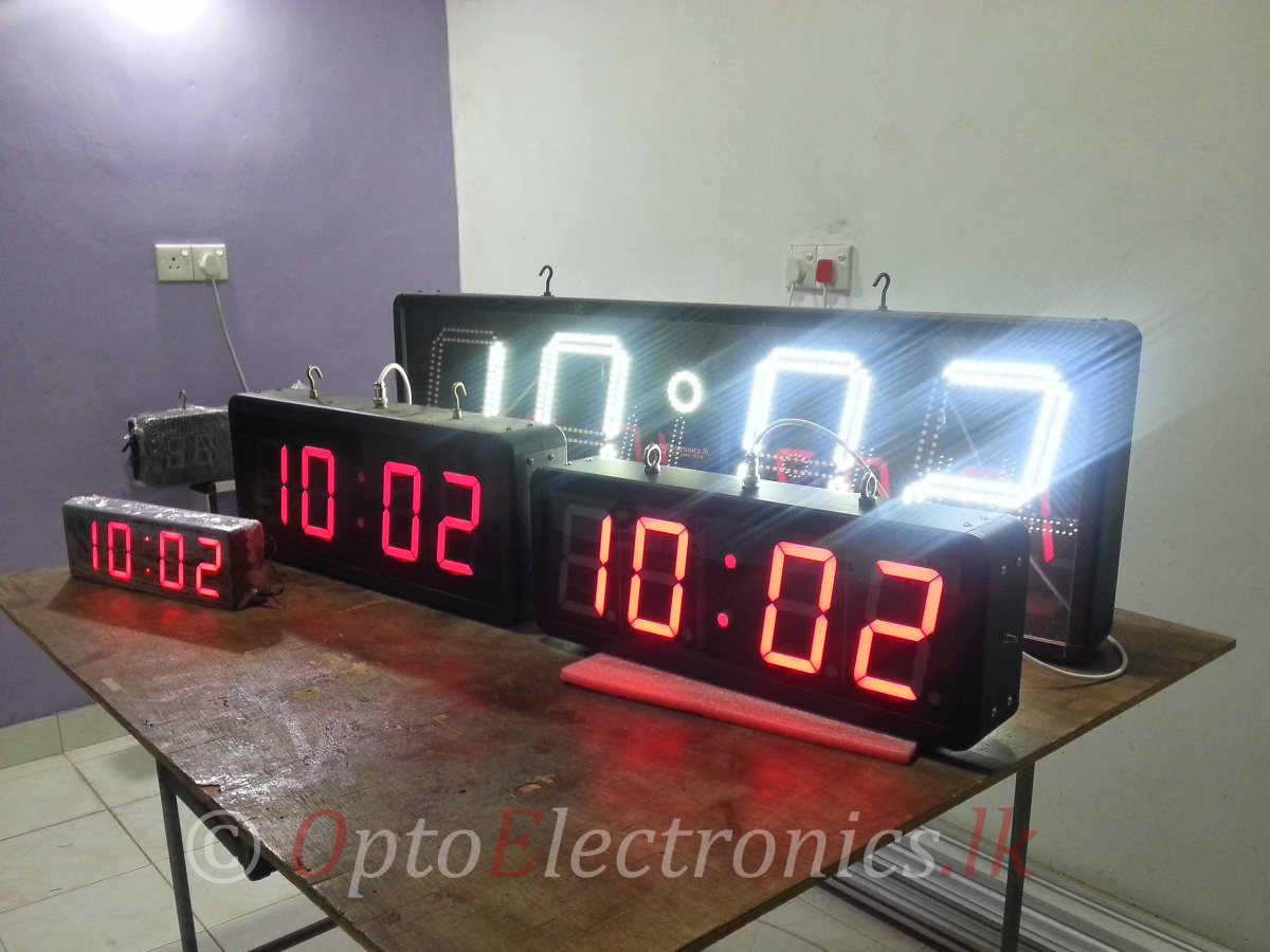"12"" Precision digital clock"